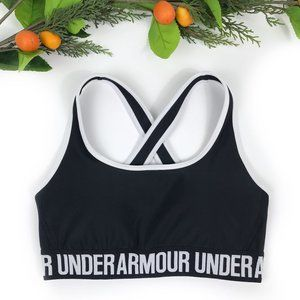 NEW Under Armour Crossback Mid Sport Bra S Black